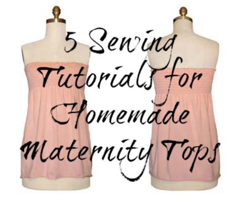 Homemade Maternity Tops Sewing Tutorials for Early Pregnancy