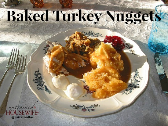 Baked Turkey Nuggets for Leftover Turkey Meals