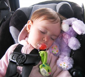Soothers and stuffies help ease long drives for toddlers