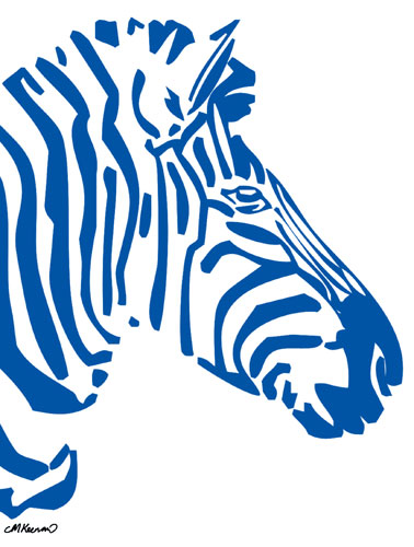 Zebra Poster Blue Preview