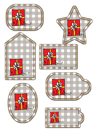 Fawn Gingham Tags Preview