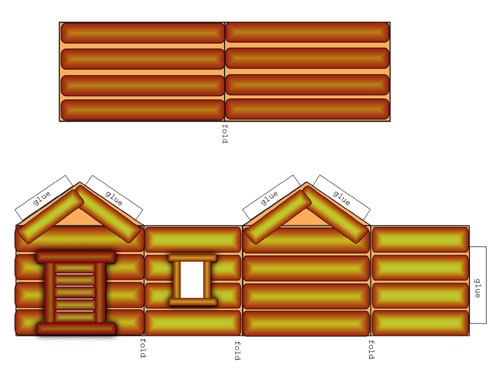 Light Log Cabin Preview