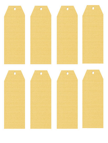 Long Linen Luggage Tags Yellow
