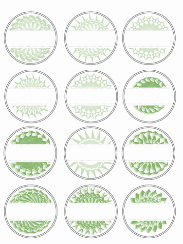 Medallion Labels Green Preview