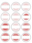 Medallion Labels Red Preview