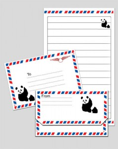 Panda Notepaper and Envelope Printables