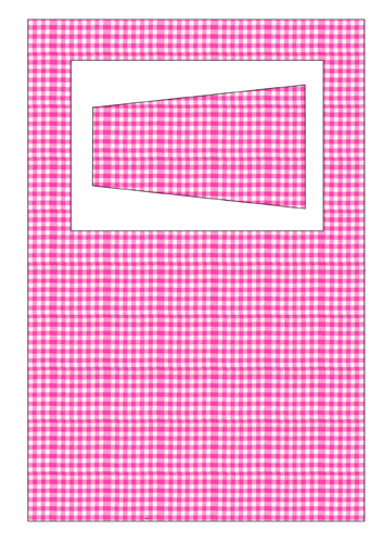 Gingham Frame with Stand Pink Preview