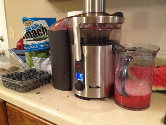 Making Red Blue and Green Juice