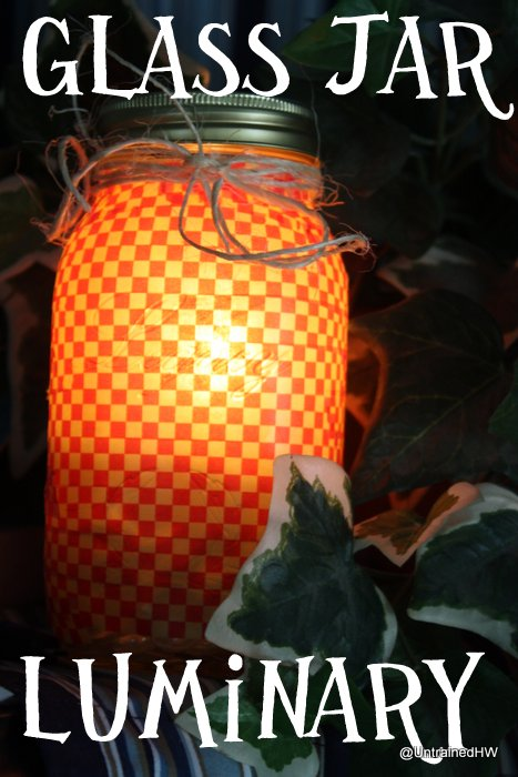 Glass Jar Luminaries for Outdoor Lighting or Indoor Decor