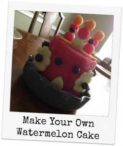 Make Your Own Watermelon Cake
