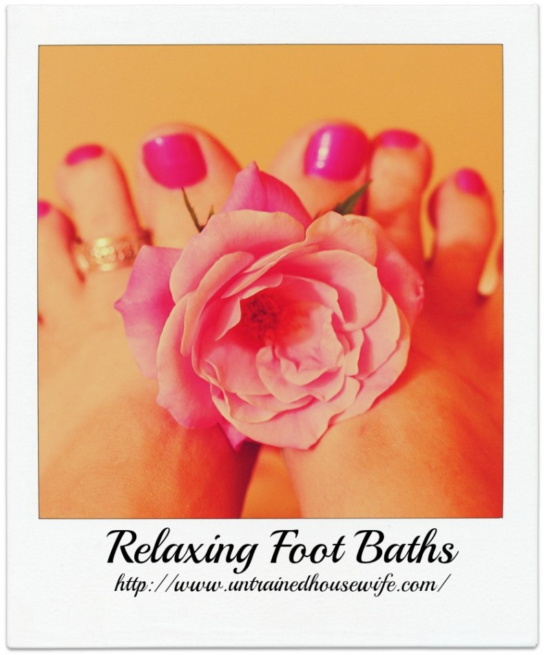 De-Stressing Aromatherapy Foot Baths