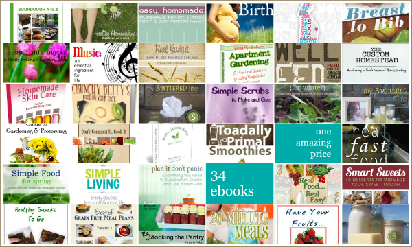 Healthy Living Ebook Bundle Giveaway UntrainedHousewife.com