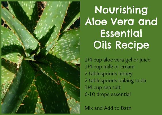 Nourishing Aloe Vera Bath and Essential Oils Recipe