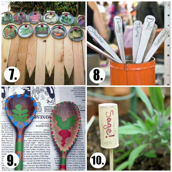 Garden Marker DIY to Label the Garden Rows