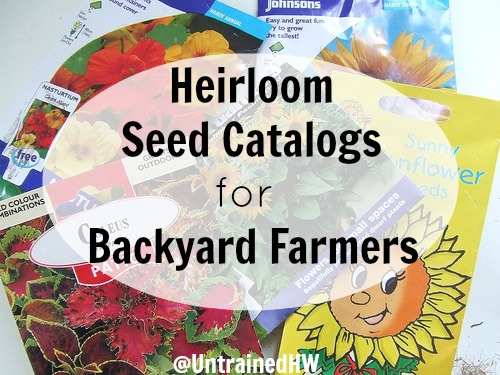 Heirloom Seed Garden Catalogs for Backyard Farmers to Order
