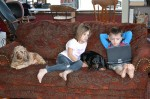 Children-Bored-on-Laptop