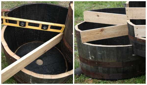 Side Tier Construction for Barrel Planters