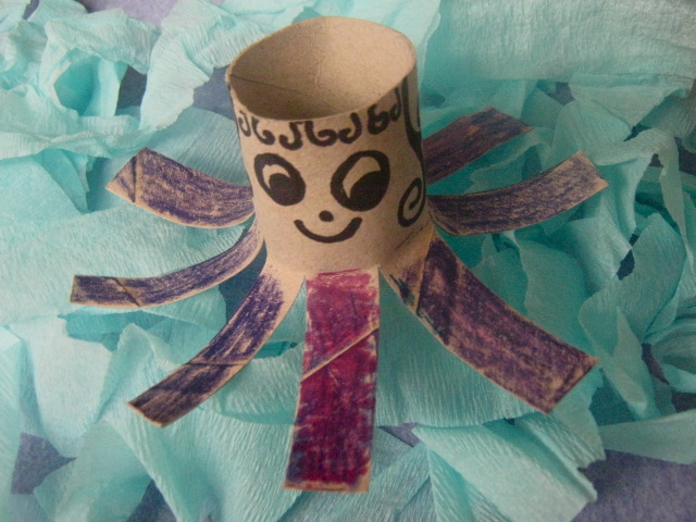 octopus toilet paper tube roll craft