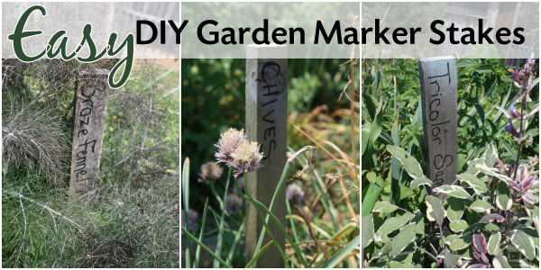 rustic garden markers that are easy to make