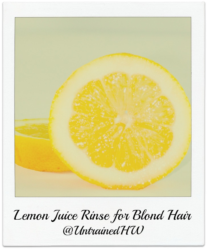 Lemon Juice for Blond Hair