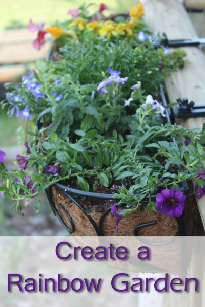 How to Create a Rainbow Garden Planter