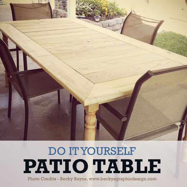 Backyard Table Diy : Build for around $10000 with supplies from your local hardware store