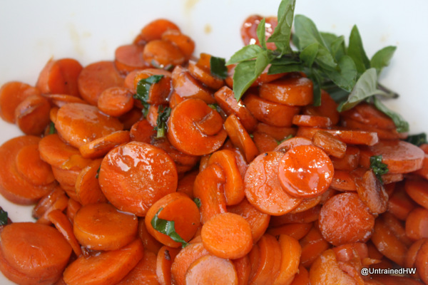 sweet basil carrot for side dishes