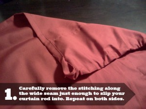 1 - No-Sew Curtains for Emergency or Temporary Window Treatments