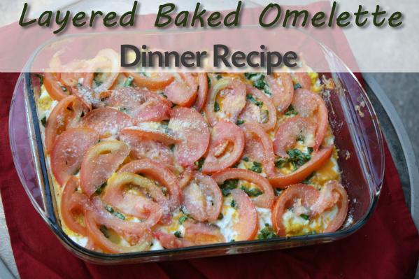 Layered Baked Omelette Dinner Recipe