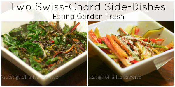 Swiss Chard Side Dishes - Two for One