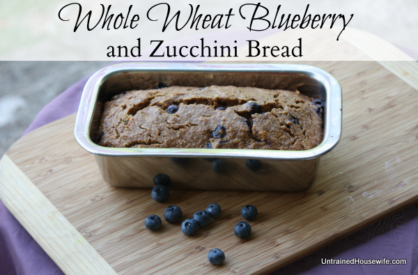 Whole Wheat Blueberry Zucchini Bread
