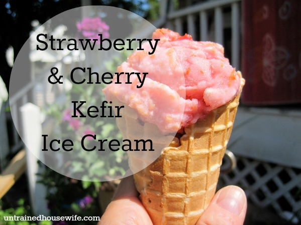 Cherry ice cream is a summer favorite. Add this strawberry-Kefir twist for a special treat. Photo Credit to Elizabeth Yeoman on Flickr.