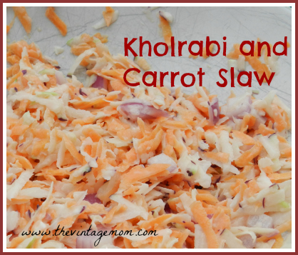 Kohlrabi and carrot coleslaw