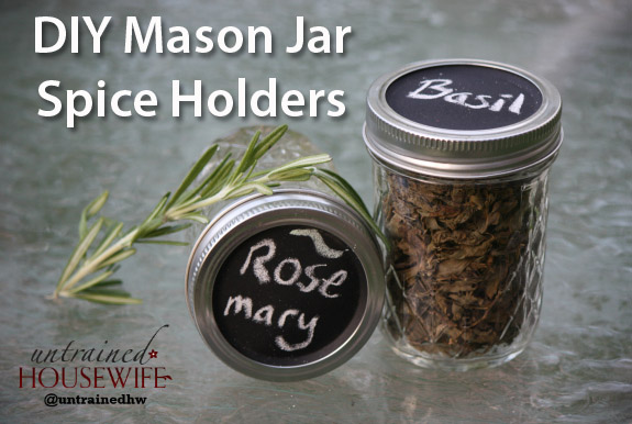 DIY Spice Jars with Mason Jars