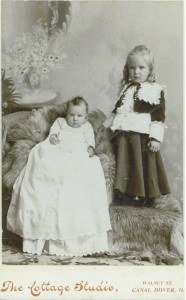 Egg Albumen Print of Infant and Toddler Boy c. 1890s