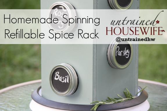 Homemade Spinning Refillable Spice Rack