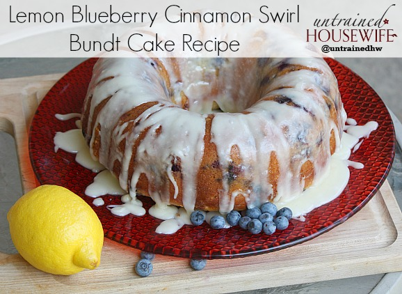 Lemon Blueberry Cinnamon Swirl Bundt Cake Recipe