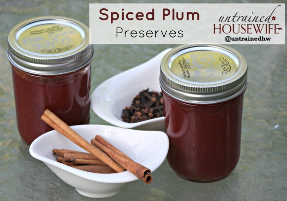 Spiced Plum Preserves to Can at Home