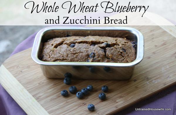 Whole Wheat Blueberry Zucchini Bread Recipe