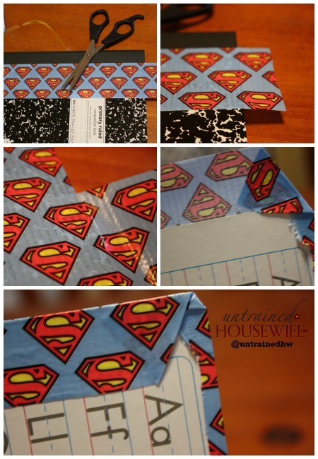 Designer Duct Tape From Scotch Expressions Tape Cover for Composition Notebook