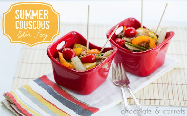 Summer Couscous Stir Fry | chocolateandcarrots.com