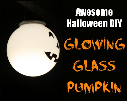 Glowing Glass Pumpkin Night Look #LowesCreator
