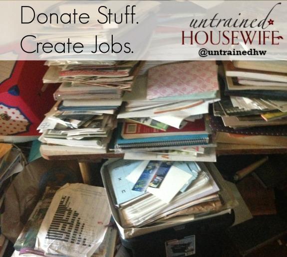 Goodwill Declutter Challenge #DonateStuffCreateJobs
