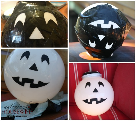 White Glass Pumpkin for Halloween Porch Decor #LowesCreator