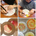 Making the Coffee Filter Sun Catcher