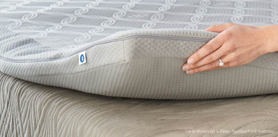 The DualTemp Layer by Sleep Number goes over any mattress