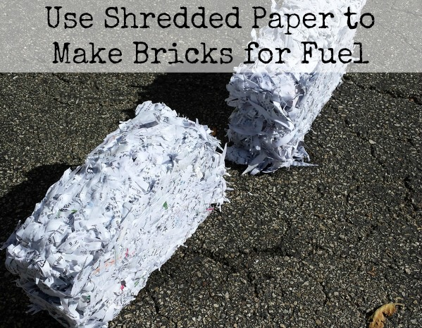 Use Shredded Paper to Make Bricks for Fuel