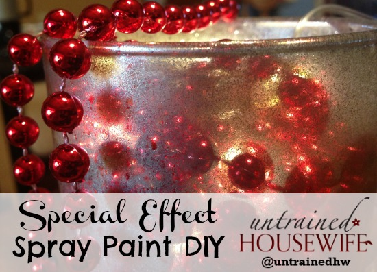 Special effect with spray paint DIY