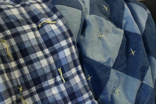 denim quilt front and back