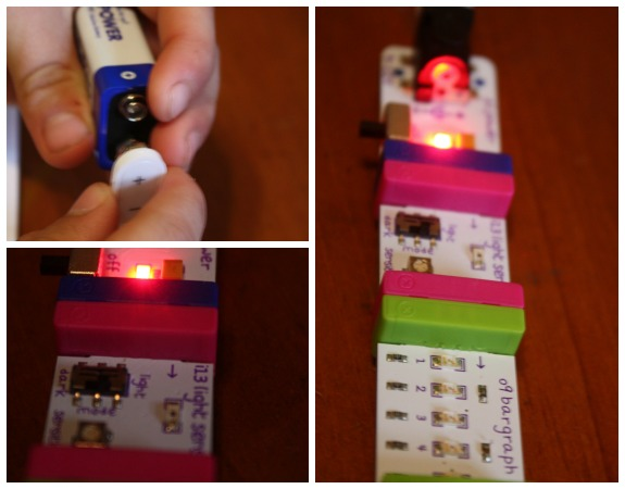 Assembling the littleBits Creations